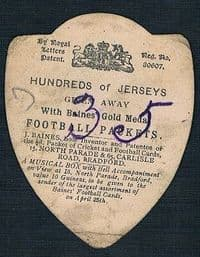 1893 Liverpool by Baines, the 1st ever Liverpool F.C. card?  A SOCCER RELIQUARY!